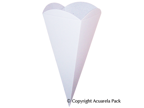 Cono, color blanco - COD.: 1129